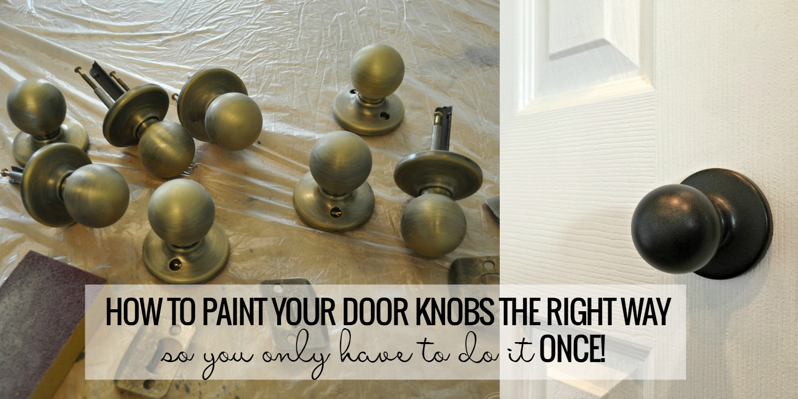 Remodelaholic | How To Upgrade Door Knobs With Spray Paint, The Tried And  Tested Method