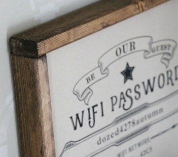 Free Editable Guest Wifi Printable