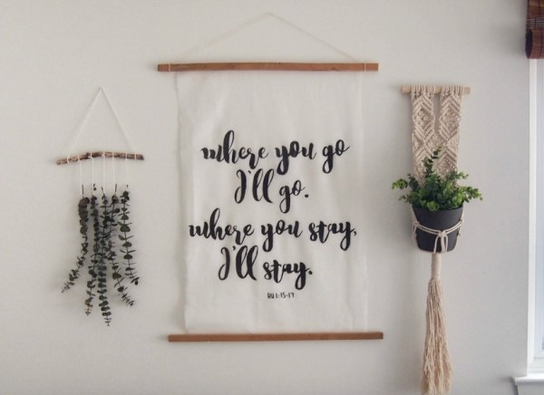 Easy Art Ideas for Kids Room Decor: Cheater Calligraphy Wall Art
