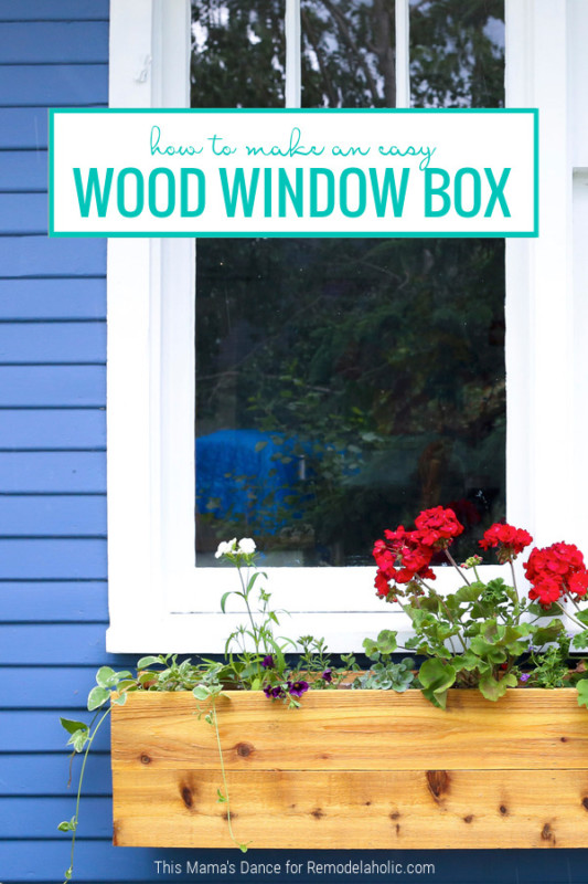 Make An Easy DIY Wood Window Box Planter, Remodelaholic