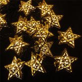 outdoor solar string lights, stars