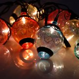 outdoor string lights, ancient lantern