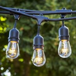 outdoor string lights, globe edison 48ft