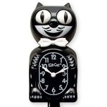 vintage kitchen charm classic black cat clock thumb