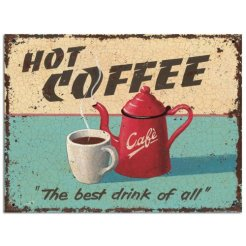 vintage kitchen charm coffee sign