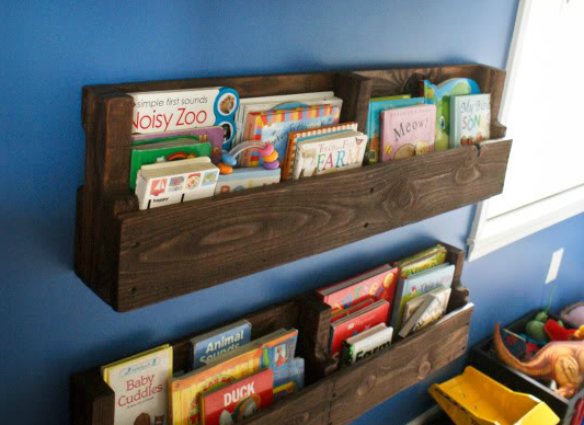 DIY Pallet Project Kids' Bookshelf By Me And Madeline On Remodelaholic
