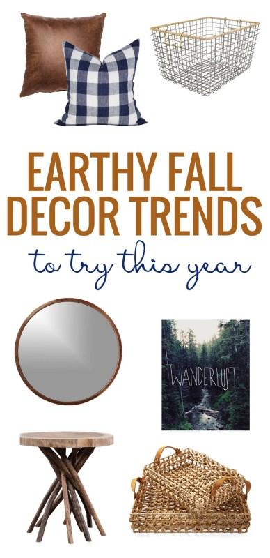 Earthy Fall Decor Trends via Remodelaholic