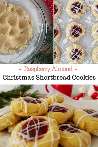 A fun, festive, fruity Christmas cookie recipe. Raspberry Almond Shortbread Cookies Recipe via Remodelaholic.com