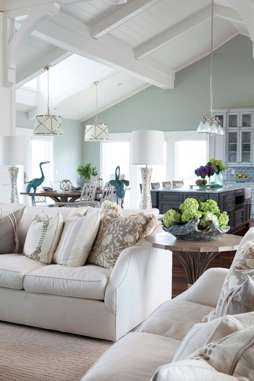 Tips for choosing a whole home paint color | Wall color is Sea Salt by Sherwin Williams. | More paint colors and tips at Remodelaholic.com