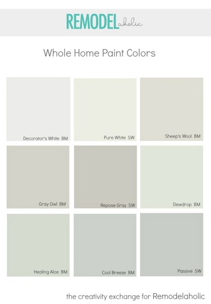Whole Home Paint Colors that Look Amazing. Remodelaholic