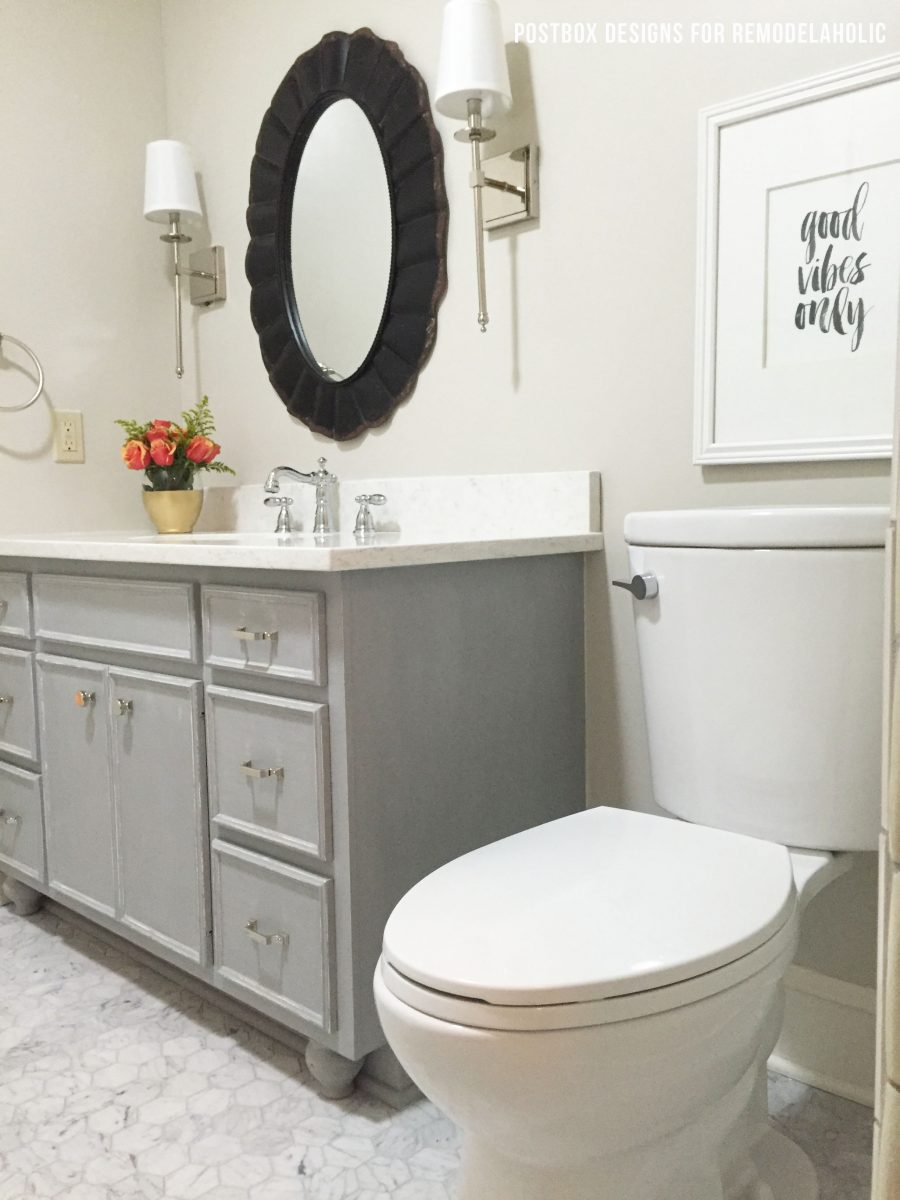 Remodelaholic | Chalk Paint® Bathroom Vanity Makeover!