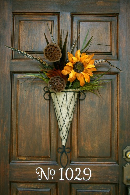 beautiful fall flower door decoration, Refresh Restyle