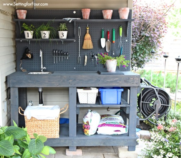 diy-potting-bench-setting-for-four