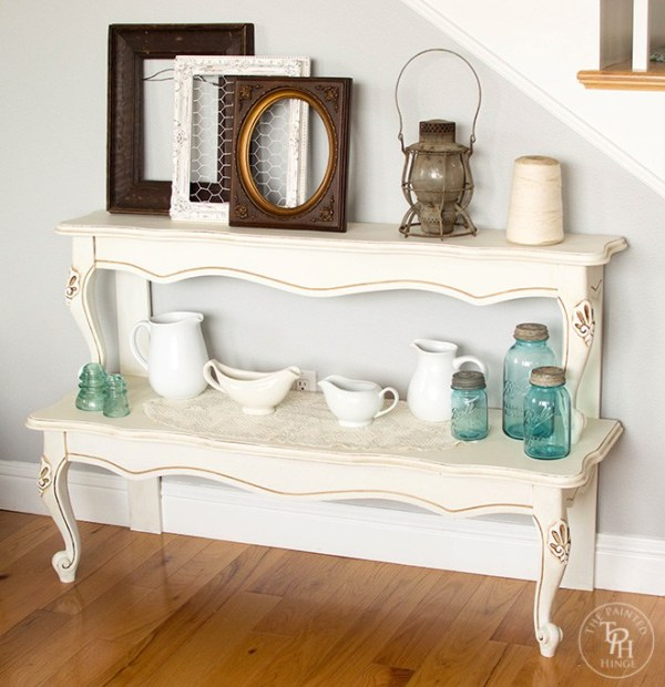 repurposed-coffee-table-into-a-stacked-entry-table-the-painted-hinge