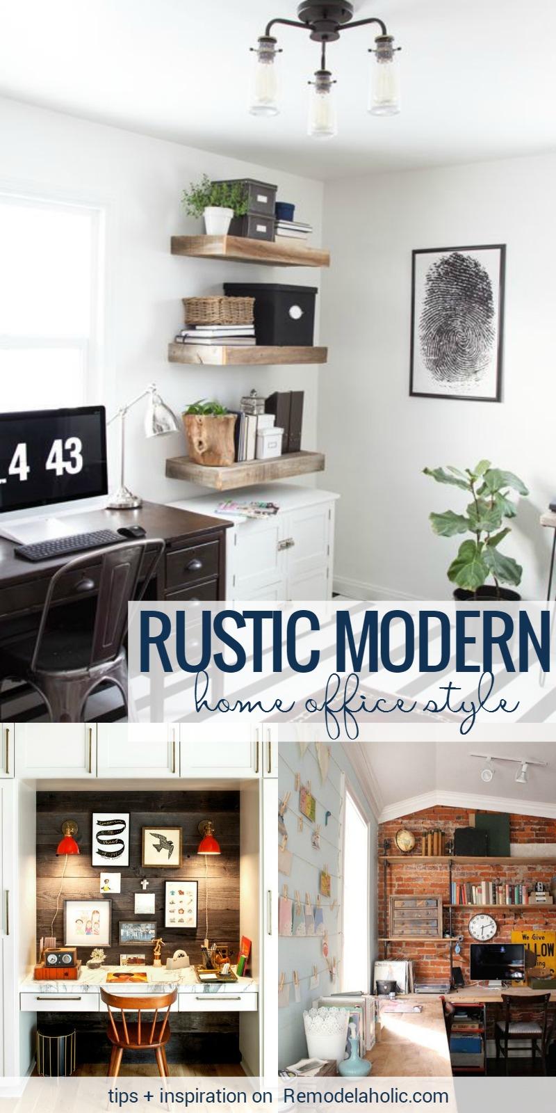Remodelaholic | Rustic Modern Home Office Design ...