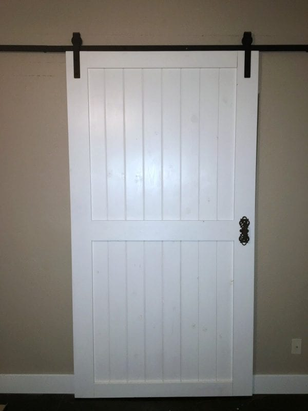 DIY Sliding Barn Door Budget Friendly Over Inspired Featured On @Remodelaholic Edit