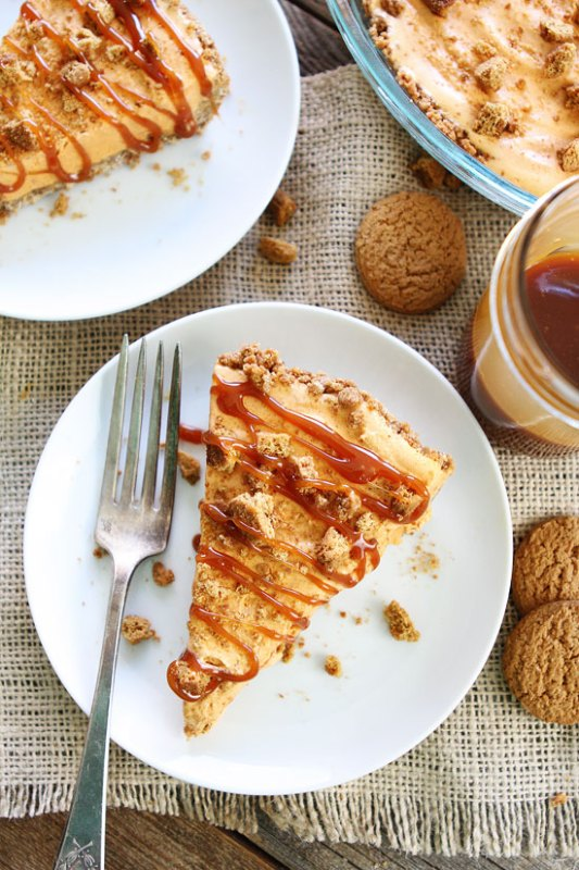 5 Ingredient Pumpkin Ice Cream Pie Two Peas And Their Pod