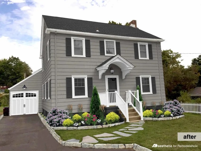 Remodelaholic Real Life Rooms Modern Colonial Curb Appeal
