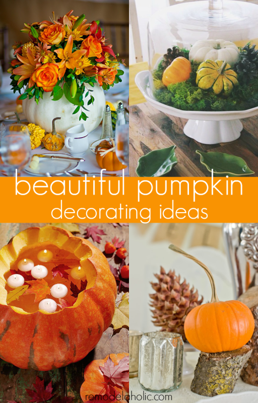 Beautiful Ideas For Decorating With Pumpkins