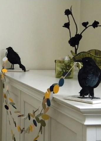 Halloween Crow Mantel