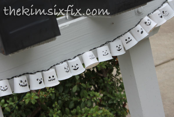 Cup Halloween Garland The Kim Six Fix