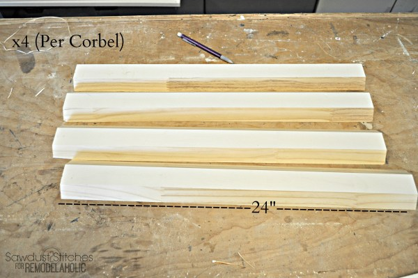 DIY Corbels By 2 Sawdust2stitches For Remodelaholic.com