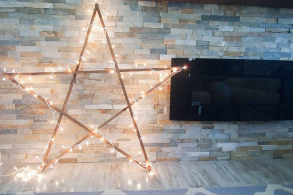 DIY Large Star The Learner Observer For Remodelaholic - Make your own DIY Christmas Decor Ideas featured on Remodelaholic.com