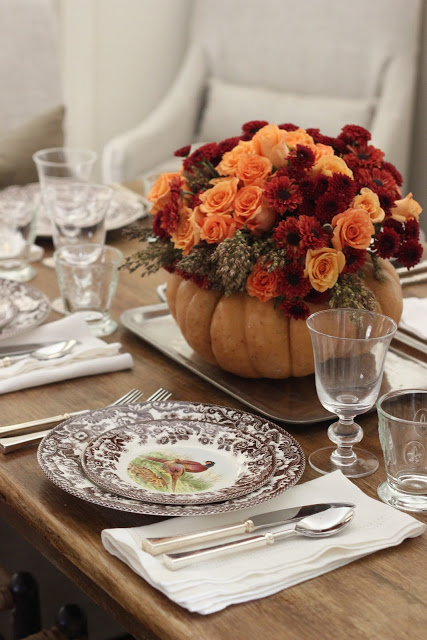 Diy Pumpkin Vase Thanksgiving Centerpiece Ask Anna Remodelaholic
