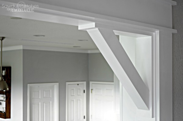 Decorative Casing And Corbels By Sawdust2stitches For Remodelaholic.com
