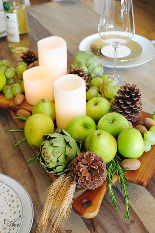Edible Thanksgiving Centerpiece Homegoods Remodelaholic