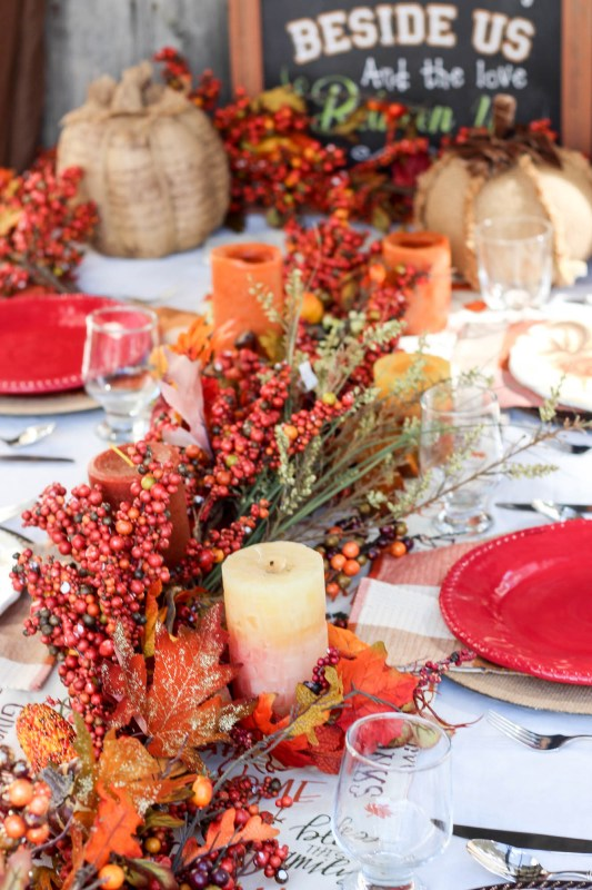 Fall Thanksgiving Tablescape 1 Remodelaholic