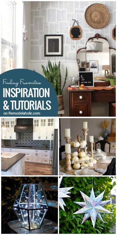 Friday Favorites: beautiful backsplashes, smart boot storage, neutral fall decor, and more on Remodelaholic.com
