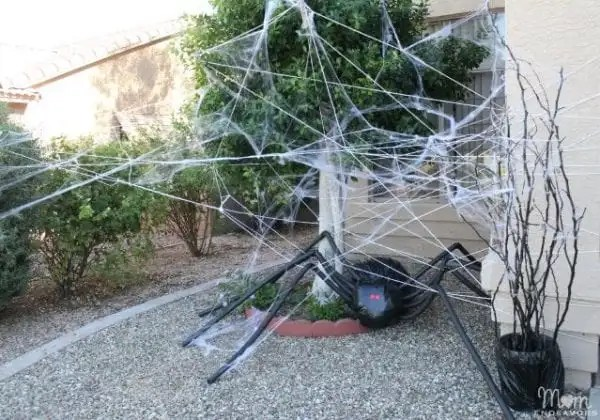 Giant DIY Spider With Spider Web Mom Endeavors