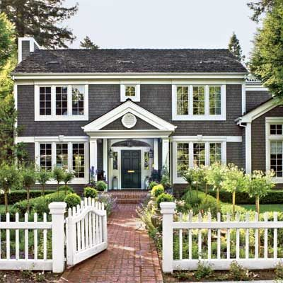 Modern Colonial Curb Appeal | Gray Colonial Inspiration