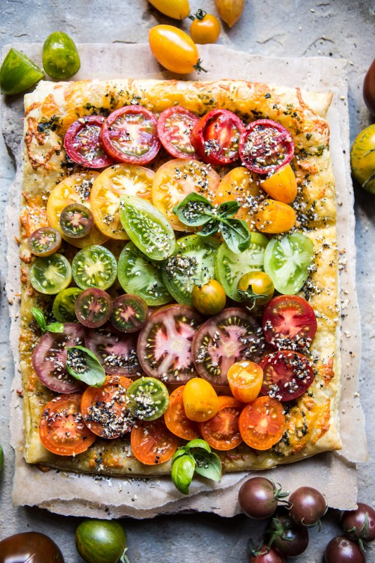Heirloom Tomato Cheddar Tart With Everything Spice 1