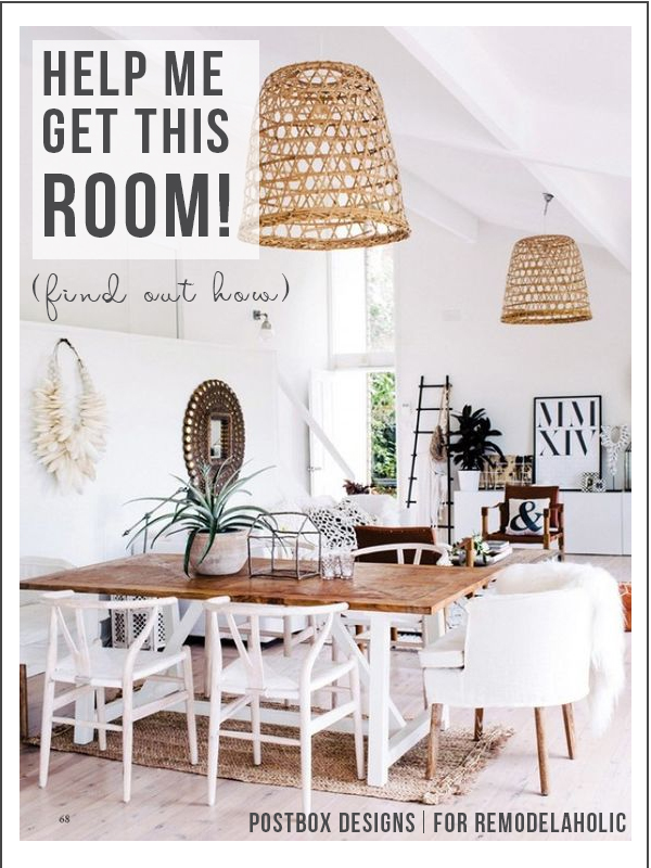 How to design your own room from an inspiration photo | How to create a boho chic dining room | Postbox Designs for Remodelaholic.com