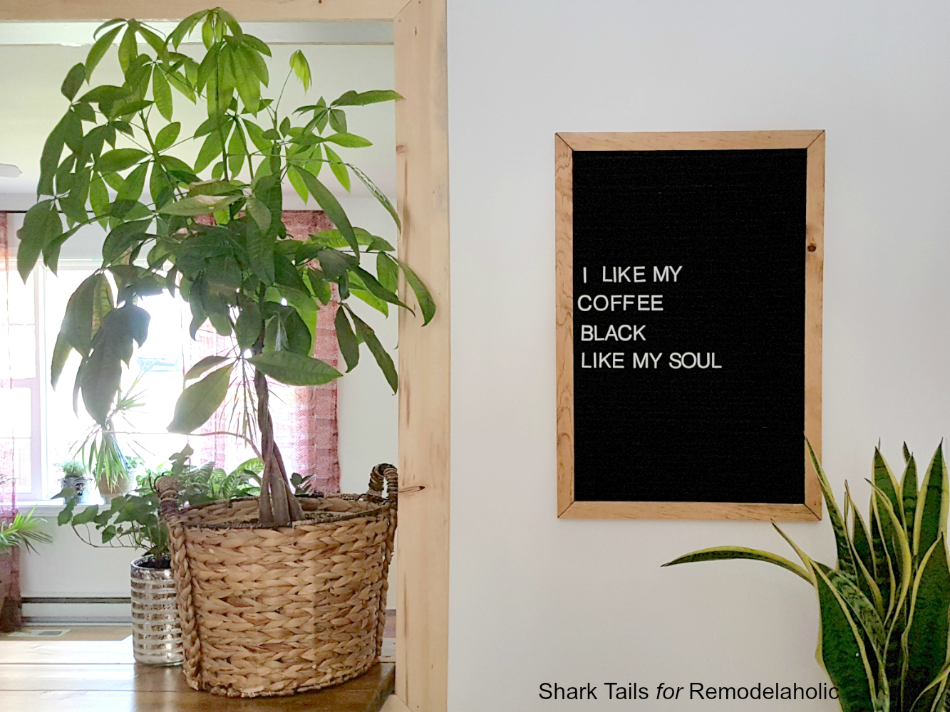 DIY Letter Board by Shark Tails