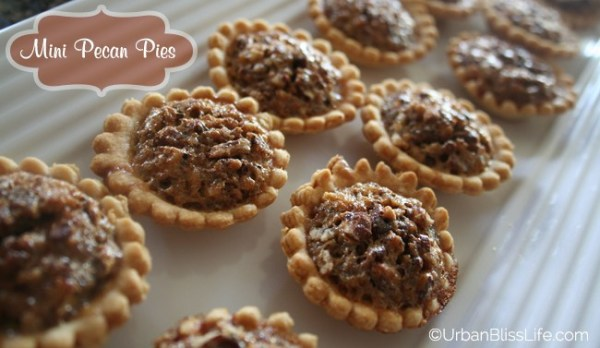 Mini Pecan Pies Urban Bliss Life