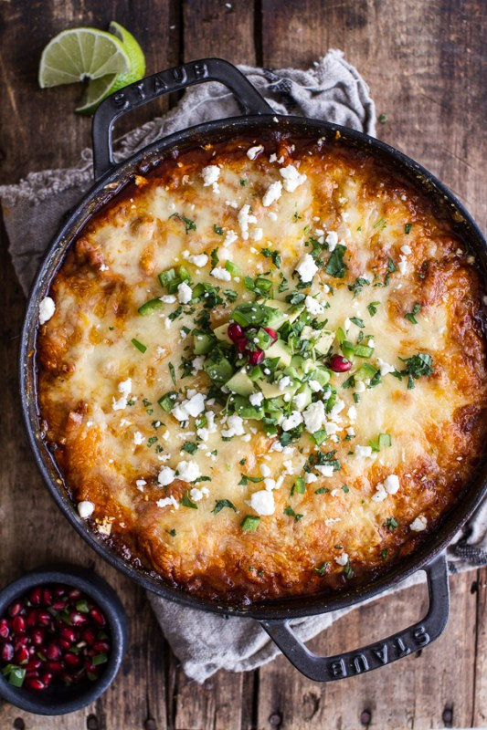 One Pot Cheesy Turkey Tamale Pie Half Baked Harvest