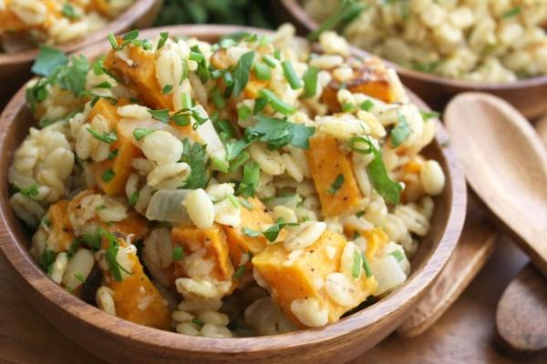 Pumpkin Barley Risotto Sweet Potatoes The Garlic Diaries