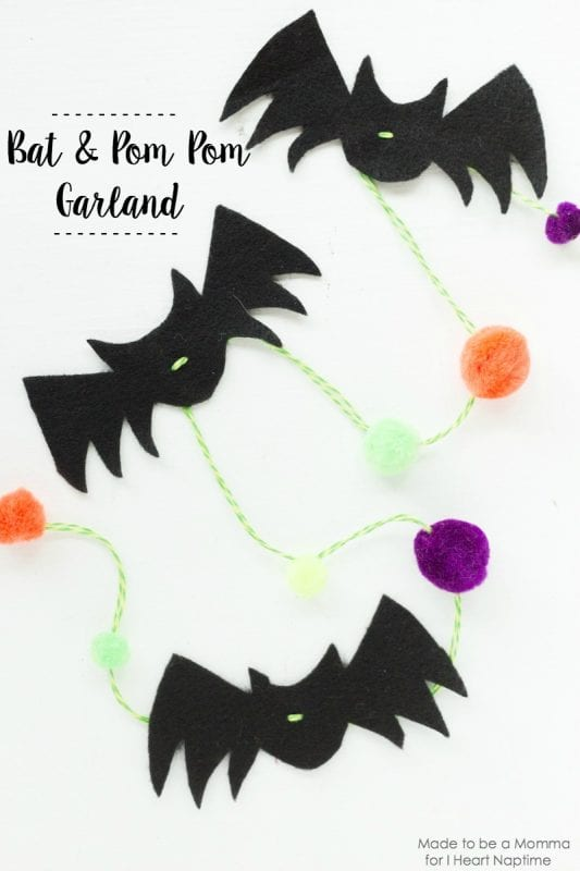 Simple Bat Garland Made To Be Momma For I Heart Naptime