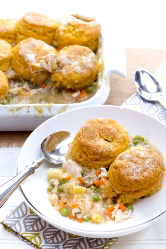 TURKEY POT PIE WITH SWEET POTATO BISCUITS Wholefully