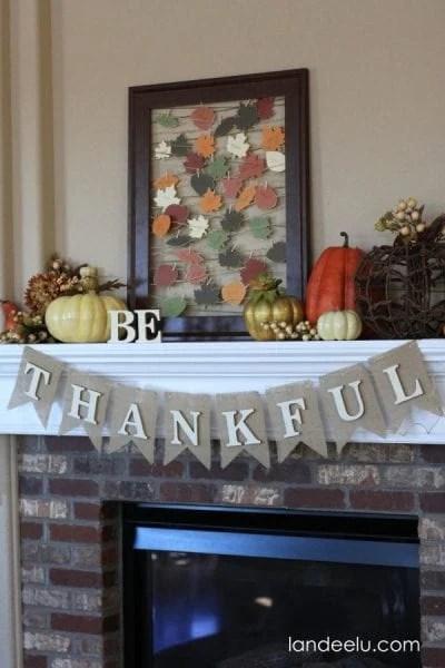 Thanksgiving Mantel From Landeelu