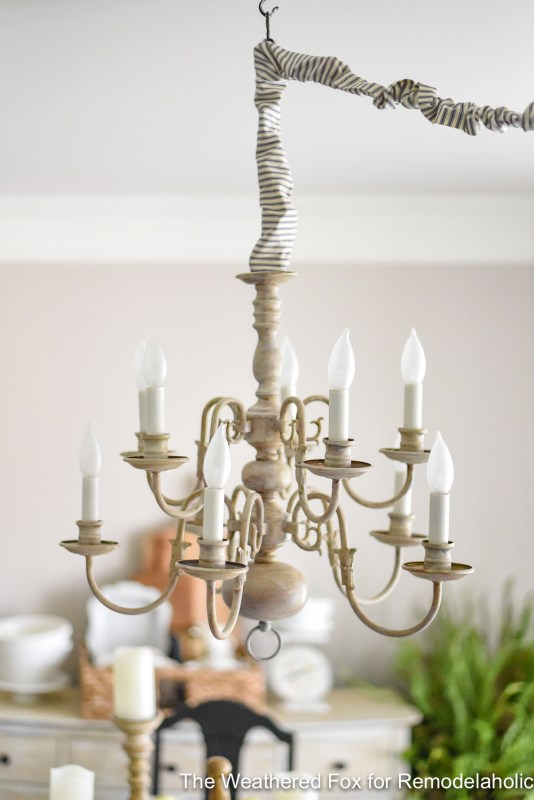 The Weathered Fox Chandelier Makeover 9