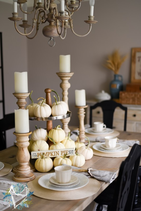 Beautiful Neutral Thanksgiving Tablescape The Weathered Fox