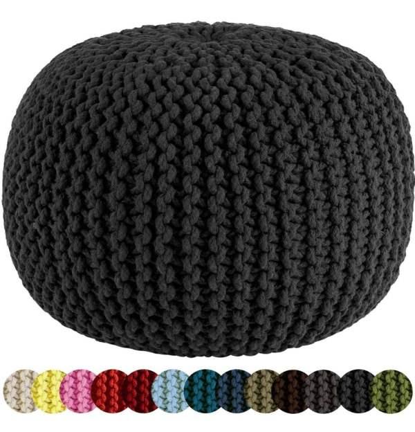 Cable Knit Pouf