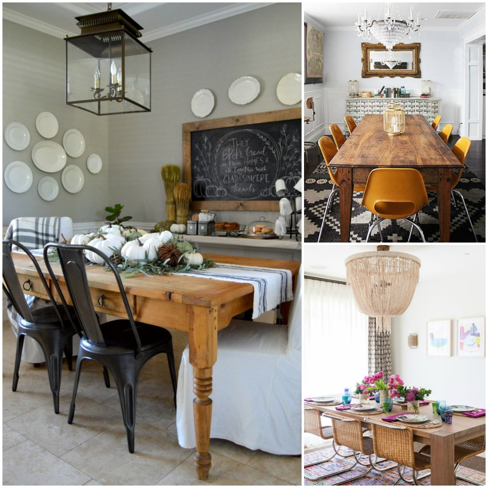 Remodelaholic one dining room three different ways for Different dining room styles