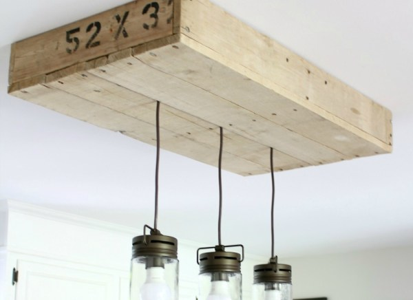 pallet wood light box DIY tutorial