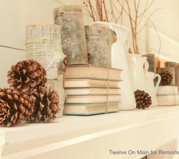 Mantel and Fireplace Makeover with Farmhouse Charm