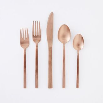 Mint And Copper Kitchen Flatware